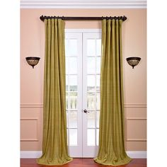Spanish Moss 96 x 50-Inch Raw Silk Curtain Single Panel