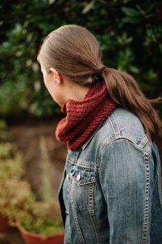 Hand Crocheted Reversible Wool Cowl Scarf: by RedWingLaneFibers crochet