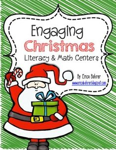 This Common Core Aligned Christmas Themed Center Packet has everything you need to set up Christmas Themed Centers.  I think it is perfect for first grade.  Literacy centers: Holiday Sort: Thanksgiving, Christmas, and  Both - Students will sort picture cards by the holiday on a sorting mat.