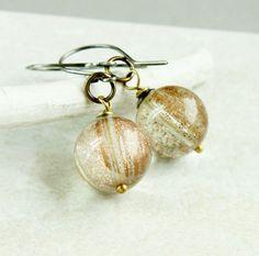 Golden Sand  Quartz   Earrings -     Gemstone Jewelry -  Sterling Silver - Brass - Mixed Metals - Handmade Jewelry -  Crystal Quartz Jewelry on Etsy, $29.00