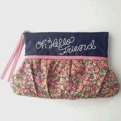 Cosmetic pouch navy  http://bonony.thebase.in