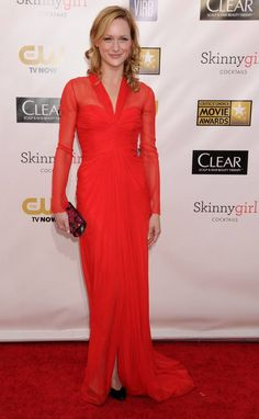 Flame-Colored Dresses, Mesh-Covered Cleavage at Critics' Choice Awards - The Cut Critic Choice Awards, Critics Choice, All About Fashion, Love Fashion, Skinny Girls, Red Carpet Fashion, Dress Red, Formal Dresses, Brave