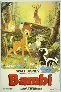 Vintage Classic Movie Poster Walt Disney's Bambi
