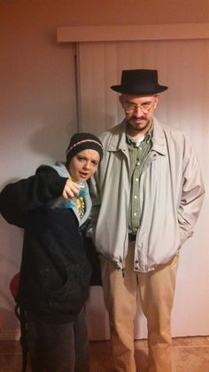 "Walter White (as Heisenberg) and Jesse Pinkman from ""Breaking Bad"" #costumes #halloween"