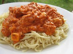 Pasta Dishes, Feta, Spaghetti, Chicken, Ethnic Recipes, Noodle, Cubs