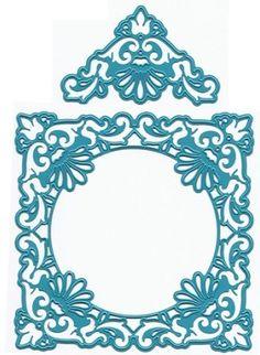 Joy Crafts - Cutting Die - Ornate Square Frame & Delicate Corners