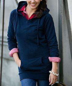Another great find on #zulily! Navy Long Hoodie by White Plum #zulilyfinds