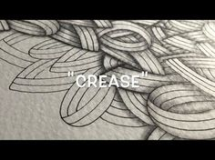 How to Draw the Zentangle® Pattern 'Crease' - YouTube
