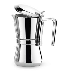 "Giannini Giannina 6-cup Stainless Steel Stovetop Espresso Maker. Created in 1968 by Carlo Giannini, this beautiful, all stainless steel espresso maker is still one of the most charming ""Grand Ladies"" of stovetop espresso makers."