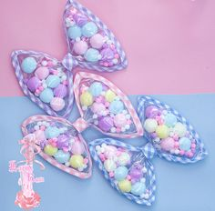 candy pompon bow | fairy kei