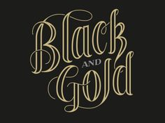Black and gold by Scott Greci