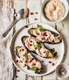 roasted aubergines w