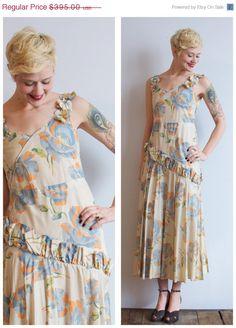 SALE 1920s Dress // Ambridge Rose Dress // by dethrosevintage