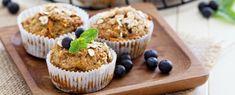 Koolhydraatarme muffins met blauwe bessen en kaneel Vegan Blueberry Muffins, Blue Berry Muffins, Pecan Pancakes, Healthy Halloween, Mini Muffins, Frozen Treats, Mini Cupcakes, Baked Goods, High Tea