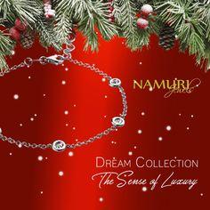 https://itcportale.it/namurijewels/?&SingleProduct=15  Bracciale Dream Collection: The Sense of Luxury Un augurio speciale da Namuri Jewels, che ogni giorno che verrà sia colmo di felicità.