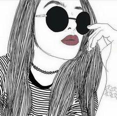 Image via We Heart It #girl #outline #outlines #tumblr #tumblrish