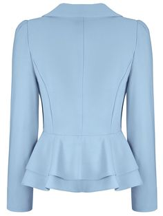 Product Name:Office Peplum Notch Lapel Single Button Solid Type:PlainOccasion:Formal / OfficePackage Included:Top / LapelSleeve:Long SleeveEmbellishment:Fl Blazer Outfits, Blazer Fashion, Blazer Dress, Hijab Fashion, Fashion Dresses, Peplum Jacket, Dress Outfits, Casual Blazer Women, Blazers For Women