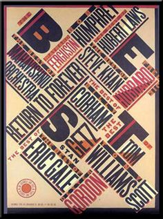 """The Best Of Jazz"" (1979), Paula Scher - an example of constructionist typography."
