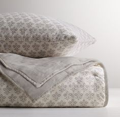 Washed Organic Linen Paisley Print Toddler Quilt $95.40 w/ coupon