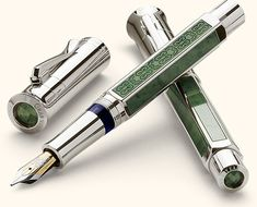 The new Graf von Faber Castell Pen of The Year 2011 is a combination of jade and platinum.  In reference to the year when Faber-Castell was founded this limited edition pen is restricted to 1761 pe…