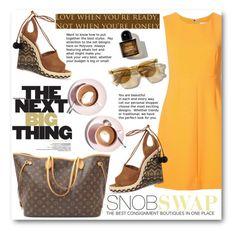 """""""SnobSwap"""" by tanja-871 ❤ liked on Polyvore featuring Louis Vuitton, Diane Von Furstenberg, Aquazzura and Martha Stewart"""
