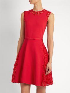 Lace-insert sleeveless mini dress | Giambattista Valli | MATCHESFASHION.COM UK