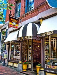 """Mornings in Paris"", Portland, ME. one of my favorite coffee spots in Portland. Paris Coffee Shop, Visit Maine, New England States, Shops, Portland Maine, New Hampshire, Oh The Places You'll Go, Vermont, Beautiful Places"