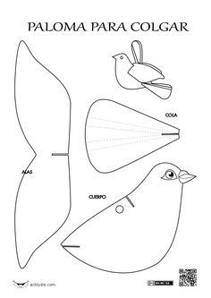 Paloma para colgar
