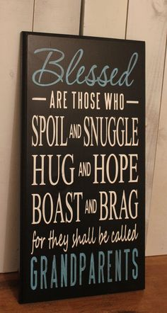 Grandparents Sign/Blessed/ by TheGingerbreadShoppe on Etsy