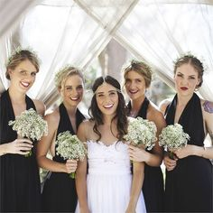 Sarah & Rhys' Real Wedding - The Bride and Her Best Girls