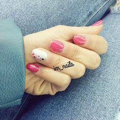 """""""Mi piace"""": 17, commenti: 1 - IM_nails / Ilaria Marozzi (@im_nails_) su Instagram: """"Ricostruzione unghie con tip   #nails #instanails #nailart #gel #gelnails #gelnailart #fucsia…"""""""