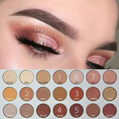 Eye makeup looks jaclyn hill palette best ideas Jaclyn Hill Palette, Jacklyn Hill Palette Looks, Jaclyn Hill Eyeshadow Palette, Morphe 350 Palette Looks, Make Up Palette, Eye Palette, Contour Palette, Make Up Geek, Eye Make Up