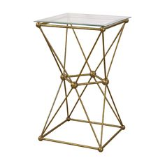Molecular Accent Table Gold