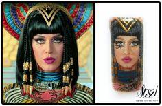 @nailsmagazine Celebrity Face off 2016, Katy Perry portrait: 1st place