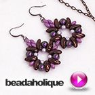 Tutorial - Videos: How to Bead Weave the Dahlia Earrings with 2-Hole Chilli Beads | Beadaholique