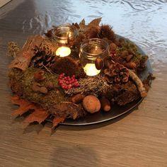 Self made fall decoration  Zelf gemaakte herfst decoratie