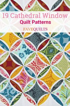 Check out this collection of cathedral window patchwork… Love traditional quilts? Check out this collection of cathedral window patchwork! Cathedral Window Patchwork, Cathedral Window Quilts, Cathedral Windows, Quilting Tutorials, Quilting Projects, Quilting Designs, Quilting Ideas, Amish Quilt Patterns, Amish Quilts