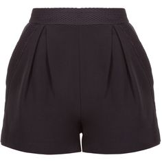 Kendall Kylie Mesh High Rise Short (5,885 DOP) ❤ liked on Polyvore featuring shorts, high waisted shorts, short shorts, highwaist shorts, zipper shorts and pleated shorts