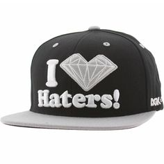 DGK x Diamond Supply Co Haters Snapback Cap (black / silver) DH304BSL - $39.99