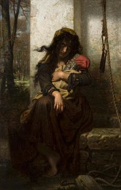 Hugues Merle, Une Folle (The Lunatic of Étretat), 1871, oil on canvas, 152.7 x 99.4 cm.