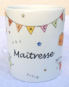 Etsy - Shop for handmade, vintage, custom, and unique gifts for everyone Teachers Day Gifts, Teacher Gifts, Diy Cadeau Maitresse, National Teacher Appreciation Day, Creation Activities, Mug Drawing, Organization Bullet Journal, Pot A Crayon, Pots