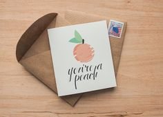 Great idea for reusing paper bags to make envelopes (plus the super cute card download!).