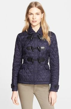 Burberry Brit 'Coleworth' Toggle Quilted Jacket available at #Nordstrom