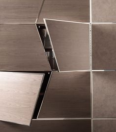 Zenit, the hiding wall panelling. CorteZari reinterprets a classical decorative element