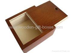 Wooden Storage Box with Slide Lid - storage box - storage box ...