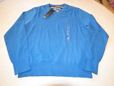 Mens Tommy Hilfiger long sleeve sweater shirt Pima XXL 7880578 French Blue 461 #TommyHilfiger #sweater