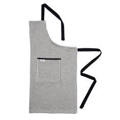 Harbour Stripe Apron Black Ecru | Designer Aprons | Tori Murphy