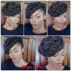 Loc updo #Naturalhair