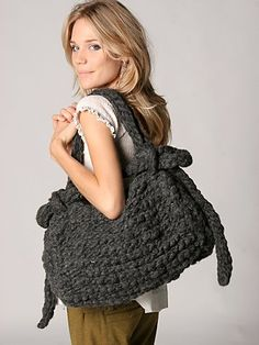 Large Hand Knit Bag, Free People $398