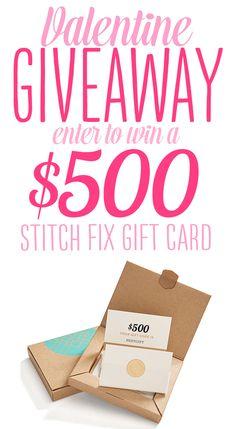 Enter to WIN a $500 STITCH FIX GIFT CARD in the Stitch Fix Valentine Giveaway!